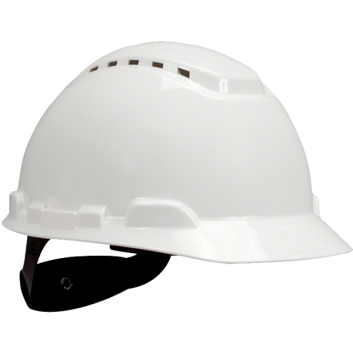 3M™ H701V 白色通風工程安全帽 - Hard Hat Vented White 4-Point Ratchet Suspension