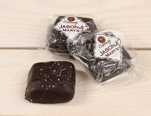 Oversized Dark Chocolate Sea Salt Caramels