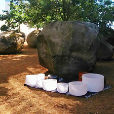 Andy Goldsworthy's Garden of Stones. Sound Bath at Museum of Jewish Heritage