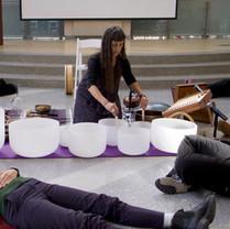 Sound Meditation Demonstration for medical staff at NY Presbyterian Hospital