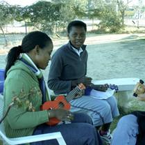 In Johannesburg, teaching ukulele