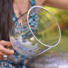 Handheld crystal bowl