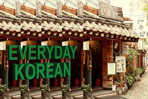 Workshop #3: Everyday Korean