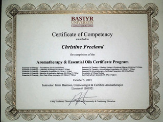 New Skills - Certified Aromatherapist