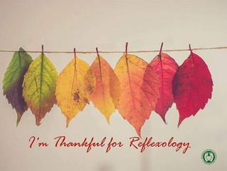 I'm thankful for reflexology