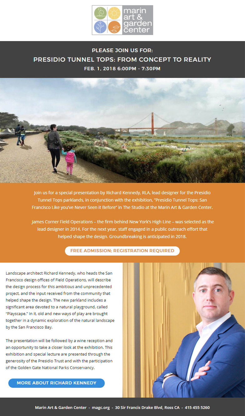 A Presentation And Exhibit About New Parkland And Play Spaces In San Francisco
