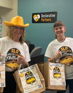 Susan & Brittany delivering SLOGCF Marke