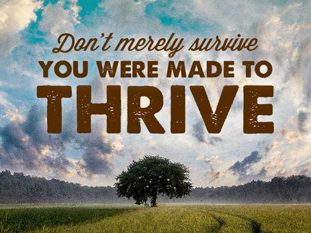 We were made to THRIVE!