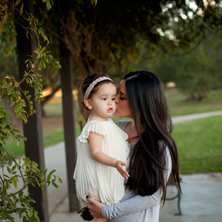 mommy and me baby portrait outdoors on location natural light dress