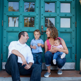 Family children baby portraits outdoors on location natural light turquoise