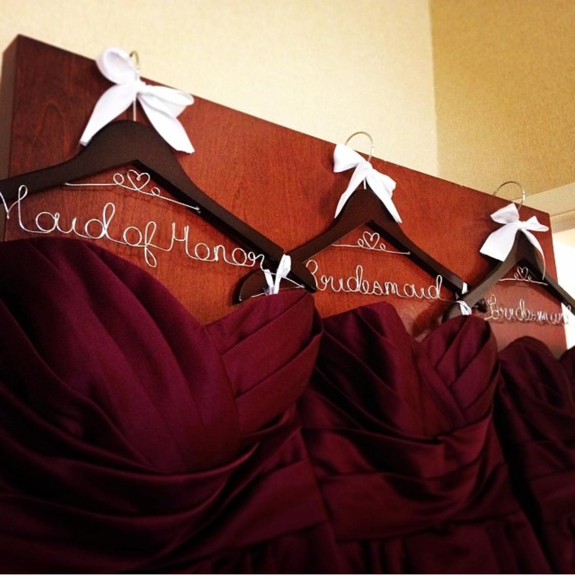Custom hangers - Wedding