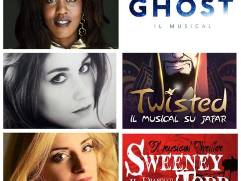 Gloria, Laura ed Elisa nel musical italiano nella stagione 2019-20
