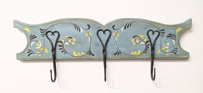 Hook board scandinavian style hand painted  folkart