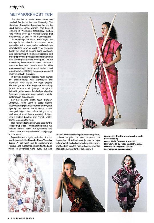 Hix New Zealand Quilter Magazine  - Jan/Feb 2014