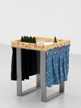Pine trees on table, 2019