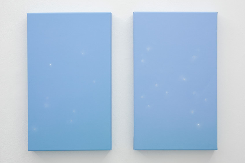22 - Guendalina Cerruti, Star Sign #1 #2, 2017, acrylic on canvas, 50x30 cm - Courtesy Art