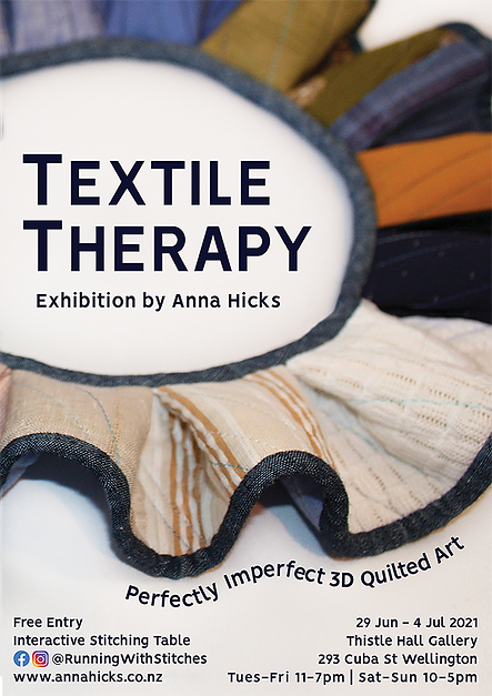 Textile Therapy, 3D quilted art