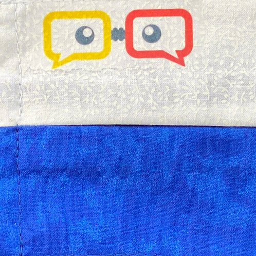 Hackathon Jr Mask - White & Blue