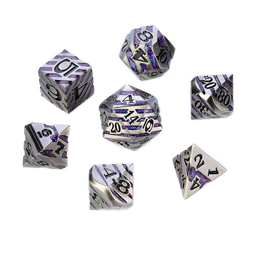 Chevron Series - Silver w. Purple Glitter