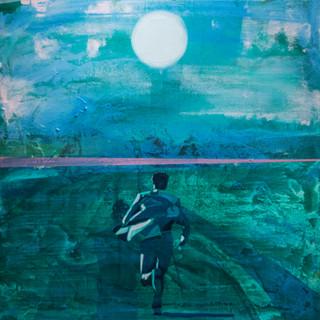 "Kenneth Blom ""Last mile"" 100x100 cm"
