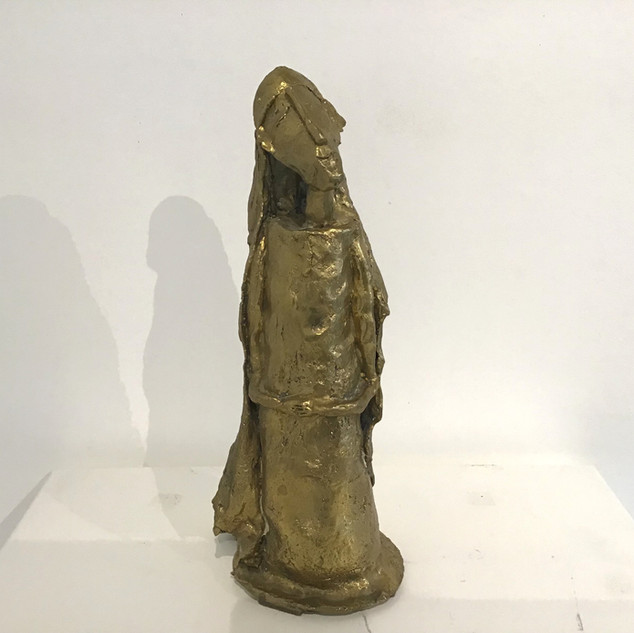 """""""Soeur Emmanuelle"""", Bronze, 31 cm. DISPONIBLE"""