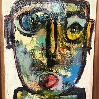 """""""Sans titre"""", technique mixte sur toile (caisse américaine bois), 45 cm x 65 cm, oeuvre originale. DISPONIBLE"""