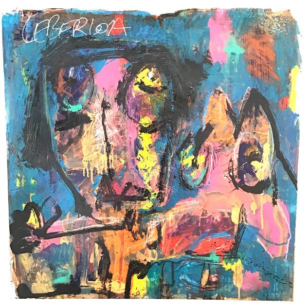 """""""Sans titre"""", 80 cm x 80 cm, technique mixte sur toile, oeuvre originale, DISPONIBLE"""