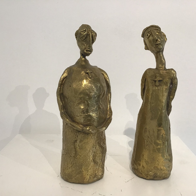 """""""Deux curés"""", Bronze, 26 cm. DISPONIBLE"""