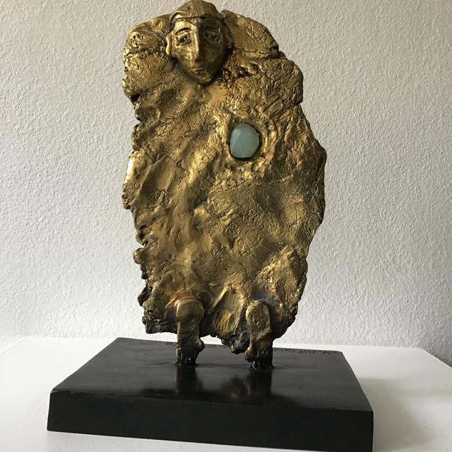 """""""Avec le coeur II"""" - Bronze - Exemplaire 1/8- 30 cm H - DISPONIBLE"""