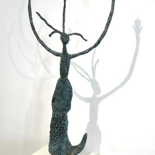 """""""La sirène"""", Bronze, 85 cm de hauteur, exemplaire 1/8. DISPONIBLE"""