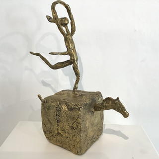 """L'écuyère"", Bronze, 28 cm x 14 cm x 38 cm. DISPONIBLE"