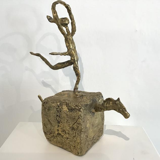 """""""L'écuyère"""", Bronze, 28 cm x 14 cm x 38 cm. DISPONIBLE"""