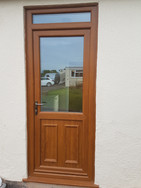 Golden Oak Half Manor Door