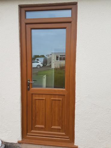 Golden Oak Half Manor Door