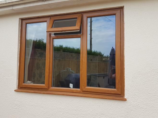 Golden Oak Window