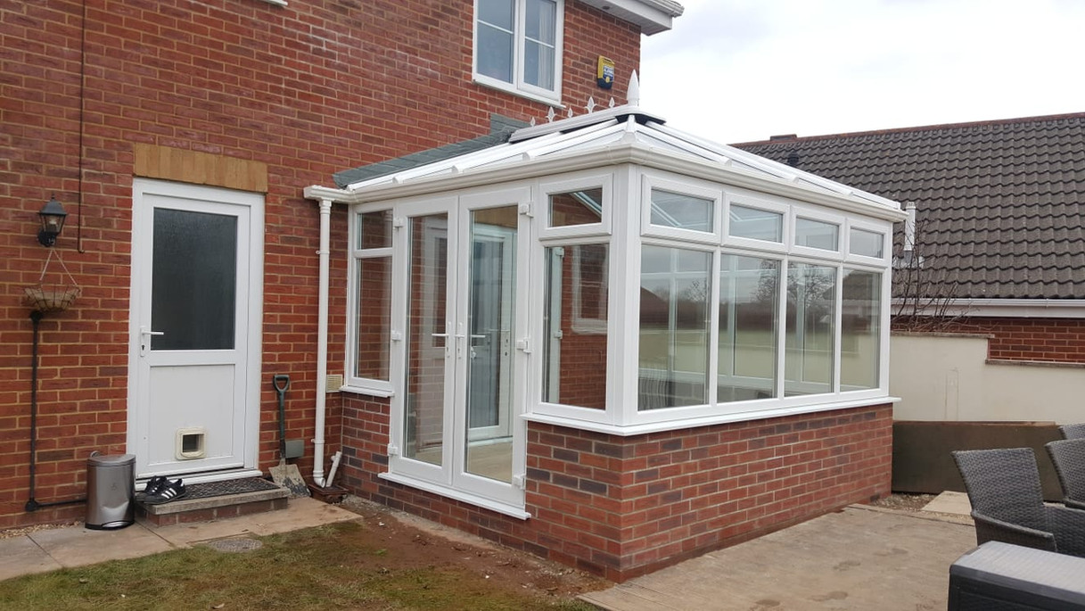 White PVC Conservatory