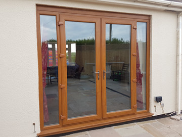 Golden Oak French Doors