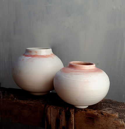 Pink Blush moon jars - small