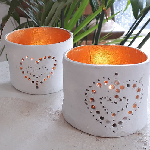 Online workshop - Make Two Pierced Candle holders