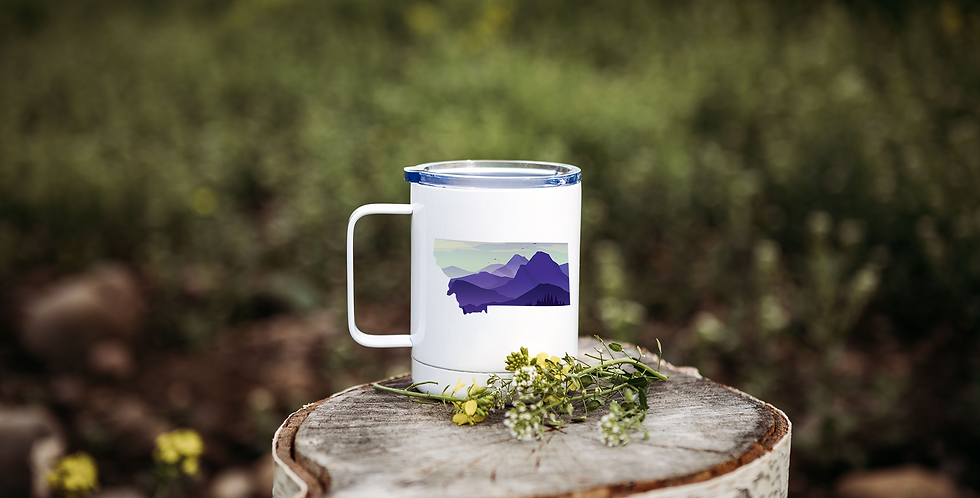 Purple Mountain Montana Coffee Tumbler