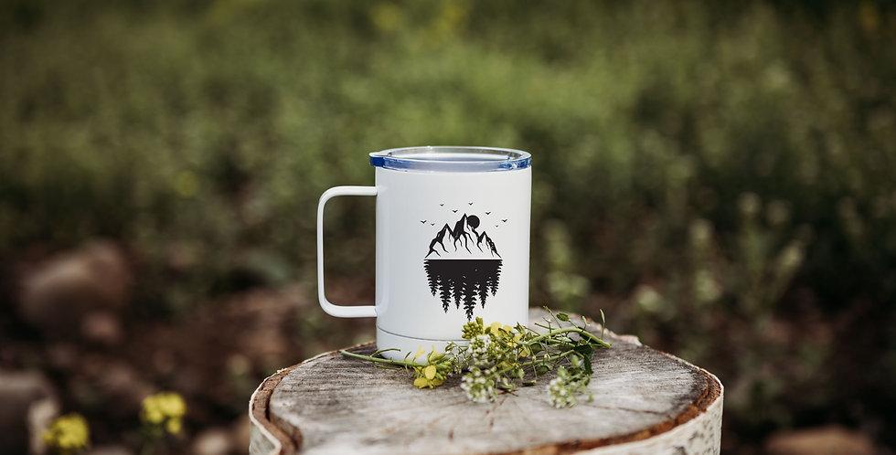 Mountain Tree Reflection Coffee Tumbler