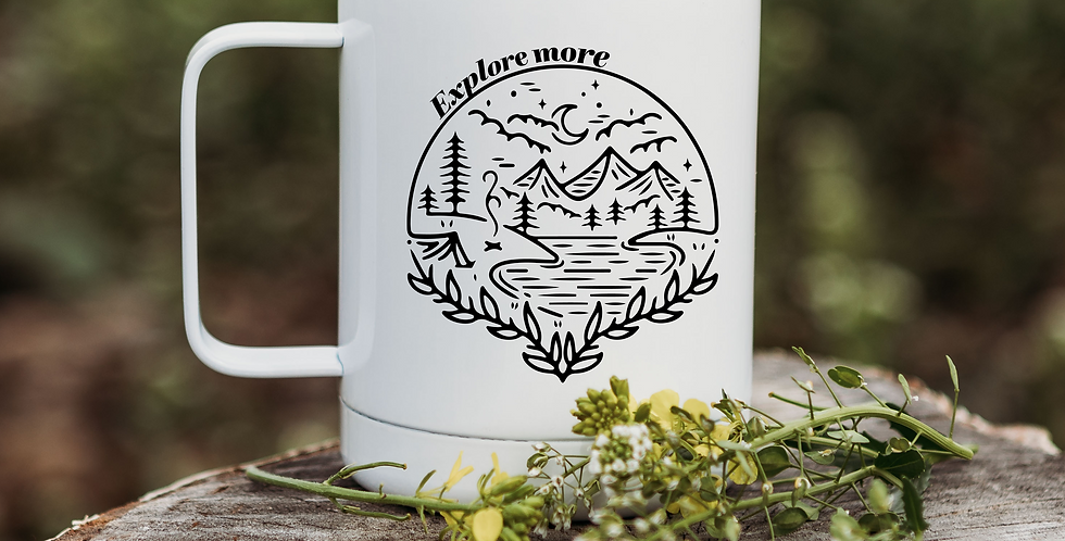 Explore More Scenery Coffee Tumbler