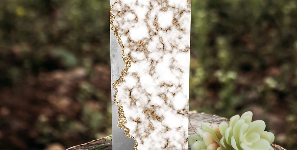 Marble custom 20 oz skinny tumbler
