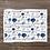 Thumbnail: Custom Name Baby Blanket - Blue Rose Floral