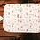 Thumbnail: Custom Name Baby Swaddle - Gold & Pink Floral