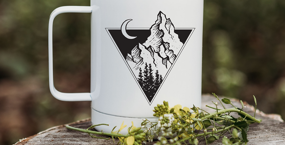 Triangle Mountains Coffee Tumbler