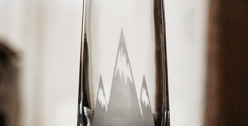 Stemless Mountain Champagne Glass
