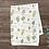 Thumbnail: Custom Name Baby Blanket -  Gold & Green Floral