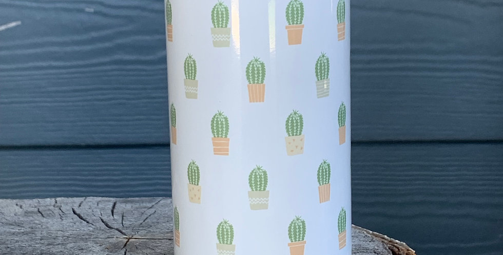 Potted Cactus Skinny Can Cooler