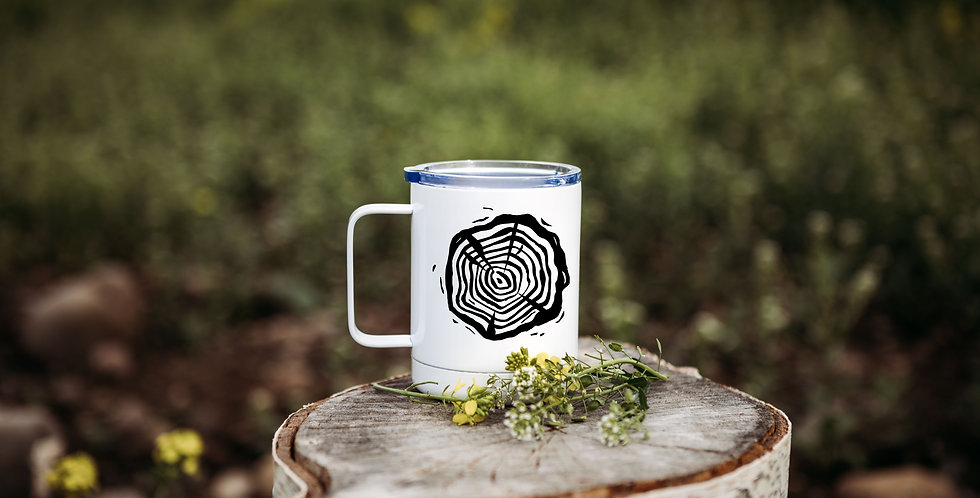 Tree Stump Coffee Tumbler